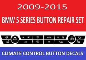 2009 2010 2011 2012 Bmw 5 Series Replacement Climate Control Button Stickers