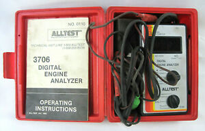 Vintage Alltest 3706 Digital Engine Analyzer W Instructions Case Cables works