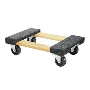 18 In X 12 In 1000 Lb Capacity Hardwood Dolly Moving Furniture Heavy Duty New