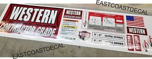 Western Contractor Ultra Mount Snow Plow Decal Kit Blade Ultramount Decals 12pc