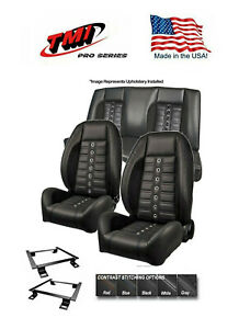 Tmi Pro Series Sport Xr Lowback Seats Brackets Rear Cover Foam 67 Camaro