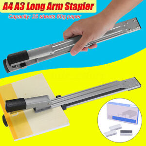 A3 a4 Long Arm Stapler Metal Home Office Capacity 25 Sheets Paper Stapling