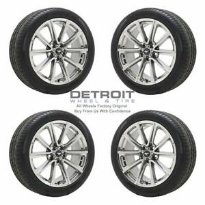 19 Ford Mustang Pvd Bright Chrome Wheels Rims Tires Oem Set 4 2015 2017