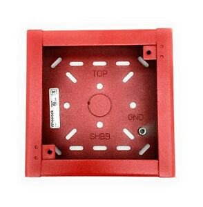 Wheelock Shbb r Red Surface Backbox For Ns as rss