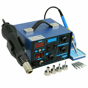 2in1 Smd Led Electric Hot Air Heat Gun Soldering Iron Station Desoldering Tool