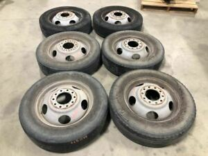 Used 01 C3500hd 6 Wheels Tires 19 5 225 70r19 5 Shipped 28615