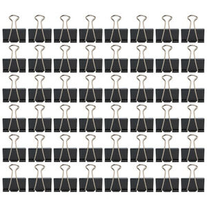 48ct Large Metal Binder Clips 1 Inch Capacity Home Office School Supplies