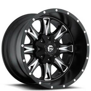 4 20x10 Fuel Wheels D513 Throttle Matte Black Milled Off Road Rims B41