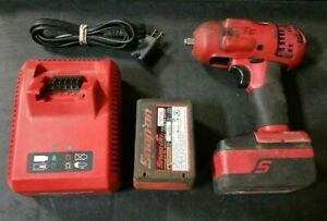 Snap on Ct8810 18v 3 8 Cordless Impact Wrench W 2 3 0ah Batteries Charger