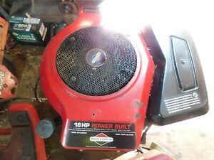 Vintage Briggs Stratton 18hp Opposed Twin Cylinder Engine Assembly