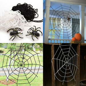 1.5 2.5M Halloween Decoration Giant Spider Web Party Props Haunted House Outdoor
