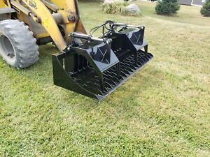 72 Extreme Duty Skid Steer Skeleton Rock Bucket Grapple Attach Free Shipping