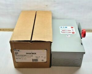 New Eaton cutler Hammer 30 Amp Fused Safety Switch 600 Vac 20 Hp 3 Dh361ngk