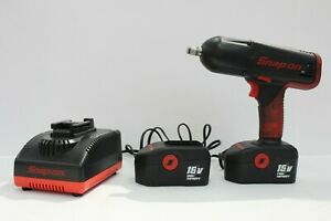 Snap On Cordless Impact Gun Ct4850 18v W 2 Batteries And Charger In Case