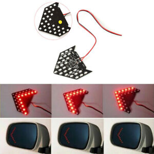 1 Pair 1210 Smd Led Turn Signal Indicator Light Car Side Rear View Mirror Mount