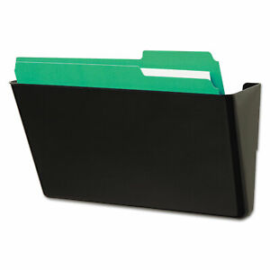 Universal Recycled Wall File Add on Pocket Plastic Black 08122