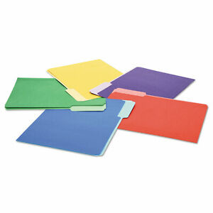 Universal File Folders 1 3 Cut Single ply Top Tab Letter Assorted 100 box 10506