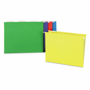 Universal Hanging File Folders 1 5 Tab 11 Point Letter Assorted Colors 25 box