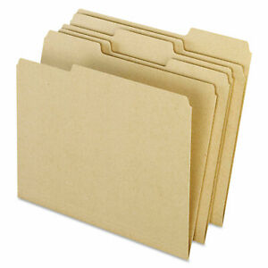 Pendaflex Earthwise Recycled Colored File Folders 1 3 Top Tab Letter Natural 100