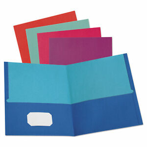Oxford Twisted Twin Textured Pocket Folders Letter Assorted 10 pk 20 Pk ct 51274