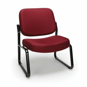 Ofm Big And Tall Guest reception Chair Wine 409 803