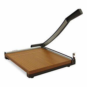 X acto Square Commercial Grade Wood Base Guillotine Trimmer 15 Sheets 15 X 15