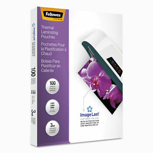 Fellowes Imagelast Laminating Pouches With Uv Protection 3mil 11 1 2 X 9 100
