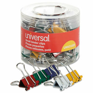 Universal Small Binder Clips 3 8 Capacity 3 4 Wide Assorted Colors 40 pack