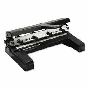 Swingline 40 sheet Two to four hole Adjustable Punch 9 32 Holes Black 74450