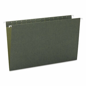 Smead Hanging File Folders Untabbed 11 Point Stock Legal Green 25 box 64110