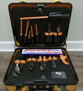 Klein Tools 1000v Insulated Utility Tool Kit 13 Pc W Case Nfpe 70e Pliers 33525