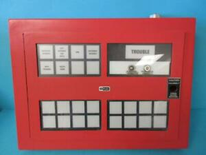 Simplex Time Recorder Co Type 4305 800 741 Fire Alarm Annunciator Panel Used
