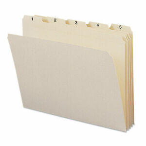 Smead Indexed File Folders 1 5 Cut Indexed 1 31 Top Tab Letter Manila 31 set