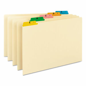 Smead Recycled Top Tab File Guides Alpha 1 5 Tab Manila color Legal 25 set 52180