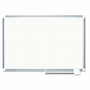 Mastervision Grid Planning Board 1 Grid 72x48 White silver Ma2747830
