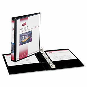 Avery Mini Size Durable View Binder W round Rings 8 1 2 X 5 1 2 1 2 Cap Black
