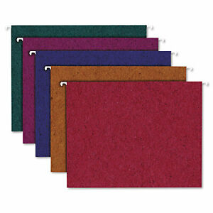 Pendaflex Earthwise Recycled Colored Hanging File Folders 1 5tab Letter Assorted