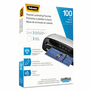 Fellowes Laminating Pouches Letter Size Hot Pouch 9 X 11 5 3 Mil 100 Pack