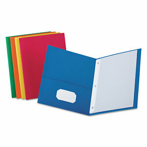 Oxford Twin pocket Folders With 3 Fasteners Letter 1 2 Capacity Assorted 25 box