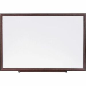 Lorell Dry erase Board Wood Frame 3 x2 Brown white 84167