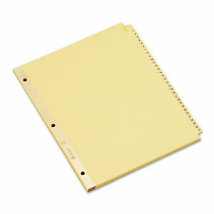 Avery Preprinted Laminated Tab Dividers W gold Reinforced Binding Edge 31 tab