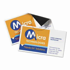 Avery Magnetic Business Cards 2 X 3 1 2 White 10 sheet 30 pack 8374