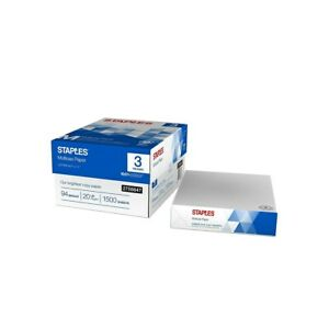Staples Multiuse 8 5 X 11 Copy Paper 20 Lbs 94 Brightness 500 rm 3 Rm ct