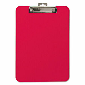 Baumgartens Unbreakable Recycled Clipboard 1 4 Capacity 8 1 2 X 11 Red 61622