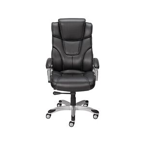Staples Baird Bonded Leather Managers Chair Black 23234