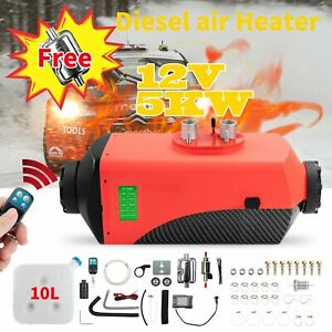 8kw Fuel Air Diesel Heater Lcd Switch Car Truck Heating Remote Controller Pipes