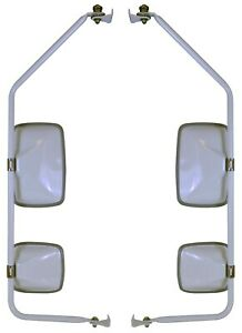 Velvac 714958 Mirror Assembly With Presets White Pair