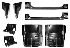 Cab Corner Rocker Panel Floor Pan Cab Support Kit For 87 96 Ford F Pickup