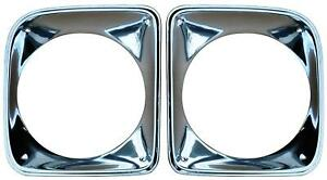 Head Light Bezel Set For 67 68 Chevy Ck Pickup Truck Suburban