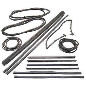13 Piece Weatherstrip Kit For Wranger With Movable Vent For 87 95 Jeep Wrangler